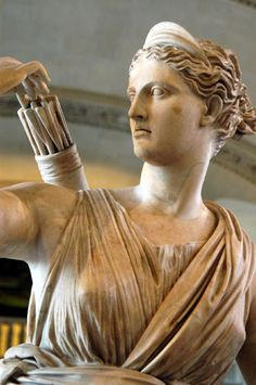 Artemis, the Diana of Versailles -- Musée du Louvre -- Paris, France Ancient Rome, Ancient Greece, Ancient Art, Greek And Roman Mythology, Greek Gods, Diana, Roman Sculpture, Sculpture Art, Versailles