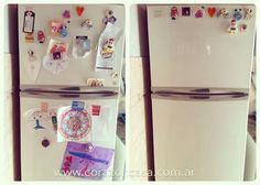 Ordenamos la puerta de la heladera para ver un cambio rápido en nuestra cocina.