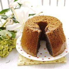 Black Glutinous Rice Flour Chiffon Cake