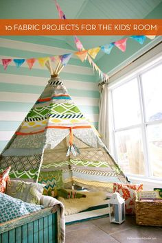 Curbly-10 DIY fabric projects for kids' rooms! http://crb.li/1bAQqXd