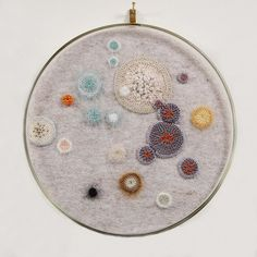 Crochet and felt bacteria piece . I have already pinned a piece like this one but these pieces stand out to me and I find them quite inspiring and crochet is definitely an technique I want to explore