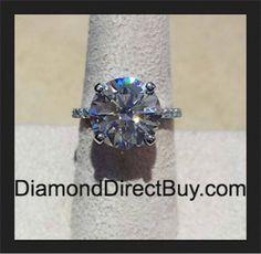 Over 5 carat Diamond Engagement Ring  5.03 F vvs1 Triple excellent diamond plus 0.50 Platinum setting AMAZING ONLY $115K contact DiamondDirectBuy.com
