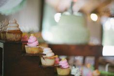 Wedding cupcakes!  Clarissa & Chase on Borrowed & Blue.