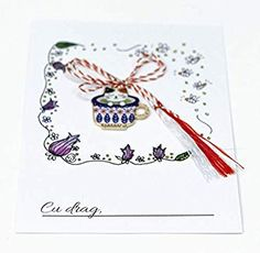 Martisor pisicuta in ceasca Bobby Pins, Hair Accessories, Amazon, Cards, Handmade, Amazons, Hand Made, Riding Habit, Hairpin