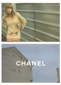 Chanel fw Angela Lindvall by Karl Lagerfeld