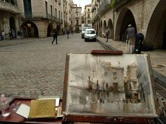 Chien Chung-Wei in Besalú, Girona. With Ejoy Painting Catalonia