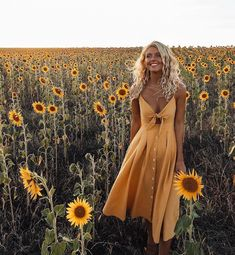 Pretty yellow sundress.