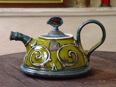 Ceramic teapot. Coffee Pot Colorful Pottery by DankoHandmade