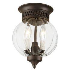 JVI Designs 1166-08 3-Light Danbury Bell Glass Lantern Star Glass