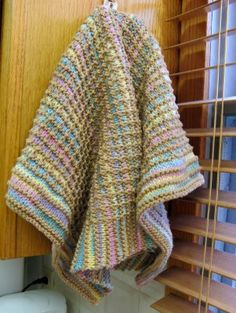 3 Sleeves to the Wind: knit Gridded Towel pattern