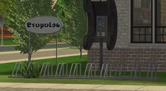 Alrighty, real quick upload because somebody asked me. I made a gray/grey recolor (with Simlish text) of Ohbehave's fixed version of FeeEssen's bicycle rack a while ago and have been including it in. The Sims, Sims 2, Bicycle Rack, Diy Home Repair, Buy Business, Real Quick, Urban City, Objects, Community