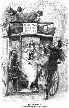 Berlin: Im Omnibus, 1864