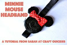 Minnie Mouse Headband by Sarah from Craft Quickies