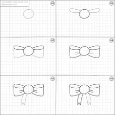 Learn to draw fun things with easy instructions, also fun to do with children! Twice a week fun things to draw online! Bow Drawing, Drawing Tips, Drawing Techniques, Doodle Art For Beginners, Cute Easy Drawings, Doodle Art Journals, Online Drawing, Simple Doodles, Doodle Drawings