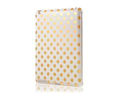 Gold polka dot iPad case.