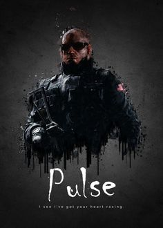 """Rainbow Six Siege Characters Pulse #Displate artwork by artist """"TraXim"""". Part of a 35-piece set featuring artwork based on characters from the popular Rainbow Six video game. £37 / $49 per poster (Regular size), £74 / $98 per poster (Large size) #RainbowSix #RainbowSixSiege #TomClancy #TomClancysRainbowSix #Rainbow6 #Rainbow6Siege #TomClancysRainbow6 #Ubisoft"""