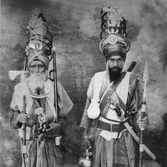 Sikh Warriors, mid 19th century.