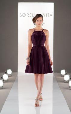 Feminine and flirty sheath style bridesmaid dress