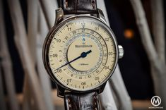 Meistersinger Adhaesio. Beautiful single hand watch with two time zones! $3,500.
