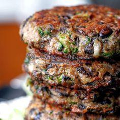 Chunky mushroom burger (veganize!)
