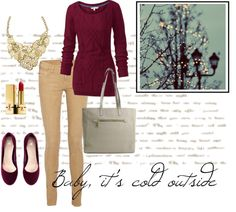 """""""Baby, it's cold outside."""" by queenbeebeverlyhills ❤ liked on Polyvore"""
