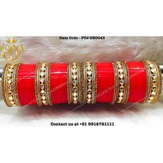 "Punjabi Traditional ""Kundan Red Wedding Choora"" #sydney #australia #america #canada #california #kuwait #dubai #london #england #india #italy #sikhwedding #bride #fashion #happy #jewellery #kundan #lehnga #love #newyork #NYC #punjabi #toronto #traditional #uk #us #usa #viah #sikhwedding"