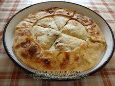 PITE ME TRI PETË (ME SPINAQ) - YouTube Albanian Recipes, Albanian Food, Breakfast Pancakes, Dishes, Make It Yourself, Baking, Dinner Ideas, Desserts, Youtube