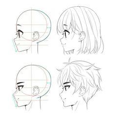 Manga Drawing Tutorials (Anime Drawings) - Page 2 of 2 - Body Drawing Tutorial, Manga Drawing Tutorials, Sketches Tutorial, Drawing Tips, Manga Tutorial, Male Drawing, Anatomy Tutorial, Eye Tutorial, Drawing Heads