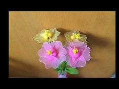 How to make a nylon stocking flowers - YouTube