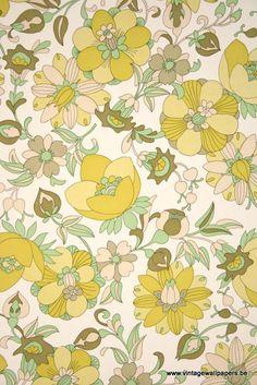 Vintage Floral Vinyl Wallcovering
