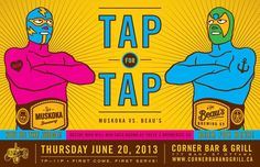 Muskoka Brewery vs. Beau's All Natural Brewing Co. - a beer brawl! June 20 at Cornal Bar & Grill on Bank Street.