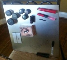 magnetic makeup board @Courtney Wilkerson