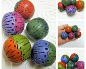 Polymer Clay Tutorial - Part II - Learn How to ADD Intricate patterns to Hollow Polymer Clay Beads Using Polymer Clay Only - Hollowlogy