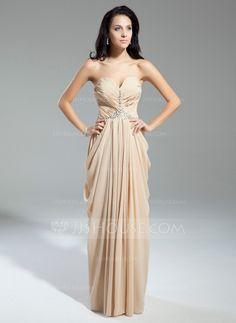 Evening Dresses - $128.99 - Sheath Sweetheart Floor-Length Chiffon Evening Dress With Ruffle Beading (017014904) http://jjshouse.com/Sheath-Sweetheart-Floor-Length-Chiffon-Evening-Dress-With-Ruffle-Beading-017014904-g14904?ver=0wdkv5eh