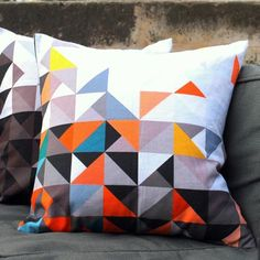 Supercool chevron cushions - MUMO via Llustre