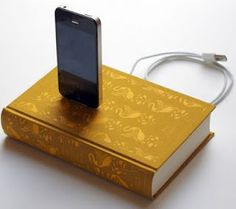 No new project to post yet, but I found this cool, elegant and decorative docking station that could be a future project. Old good-looking books are easy to find and it's an inexpensive project. If you are lazy or don't have enough time, you can find some on etsy for around $60.