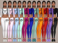 The Sims 4 by Kasia: Dresy Adidas