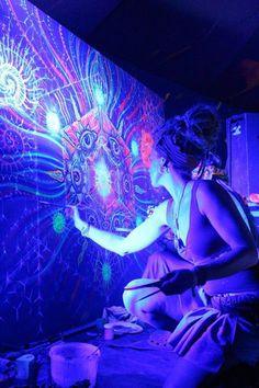 Ultraviolet Awakening...Enlightened Blacklight painting