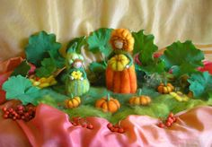 Harvest flower fairies. Wollbeutel zum kreativen Gestalten