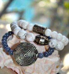 Set of 3 Statement Beaded Stretch Bracelets by uniquebeadingbyme #smallbusinesssale #bracelets