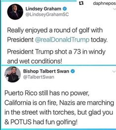 It's not necessarily wrong for political leaders to golf, but needlessly announcing it is tacky considering the devastating current events.