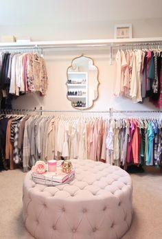 Spare Room Closet, Spare Bedroom Closets, Wardrobe Room, Closet Small, Master Bedroom, Pink Closet, Hallway Closet, Master Closet, Dressing Room Decor