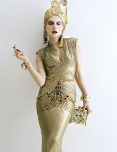 """Catherine Baba in Gripoix for W magazine November 2012 """"The Originals"""" story by Diane Solway photographed by Tim Walker"""