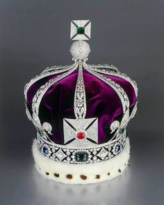 The Imperial Crown of India. The crown was used only once by George V as Emperor…