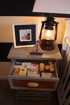 Such a cute blog post on her nautical nursery