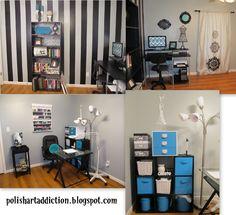 Polish Art Addiction: New Polish Room    Seriously spiff and organized polish room
