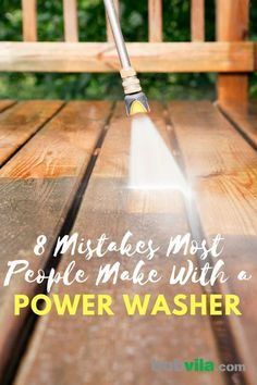8 Mistakes Most People Make with a Power Washer - Proper Power Washing - Pressure Washing House, Pressure Washing Business, Deck Cleaning, Cleaning Hacks, Spring Cleaning, Power Washing Deck, Best Pressure Washer, Washing Windows, Home Repair