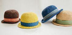 ジャガードテープのボーラ―ハット | 編み物キット販売・編み方ワークショップ|イトコバコ