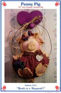 ARTE COM QUIANE - Paps, Moldes, E.V.A, Feltro e Costuras: Porquinha com molde