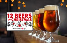 "Celebrate the Holiday Season with ""12 Beers of Christmas"" at Morimoto Asia Food Stations, Disney Springs, Local Brewery, Chip And Dale, Disney Addict, Asia, Masaharu Morimoto, Disney Christmas, Brewing Company"